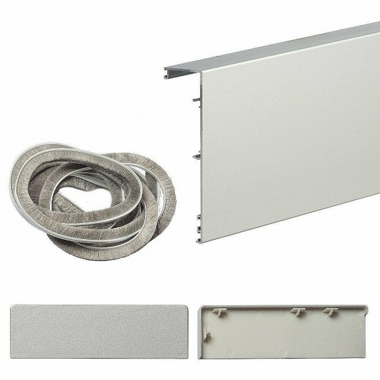 Маскировочная планка для системы Herkules Glass Серебро